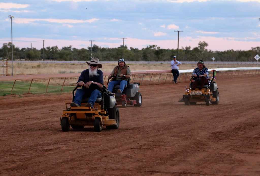 The Great Ride on Mower Races. Boulia Camel Races. Jan Norton