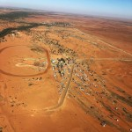 Ariel Of Boulia Camel Races record number of campers and view to town