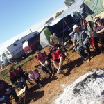 Camping round the camp fire at Boulia Camel Races