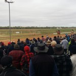 Crowd gathers at Boulia Camel Racing