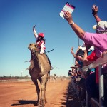 Uncle Bob ridden by Chontelle Jannese in Boulia Camel Cup Final 2018