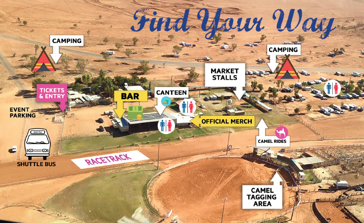 Map of Boulia Camel Races 2017